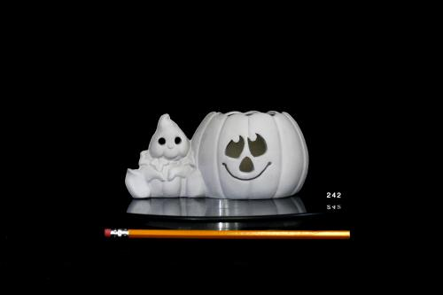 Pumpkin Belly Ghost Candleholder